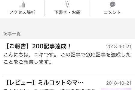 【ご報告】200記事達成!